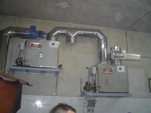 sistema bicomponente abbattitori di fuliggine ventiltecnoful per pizzeria con for